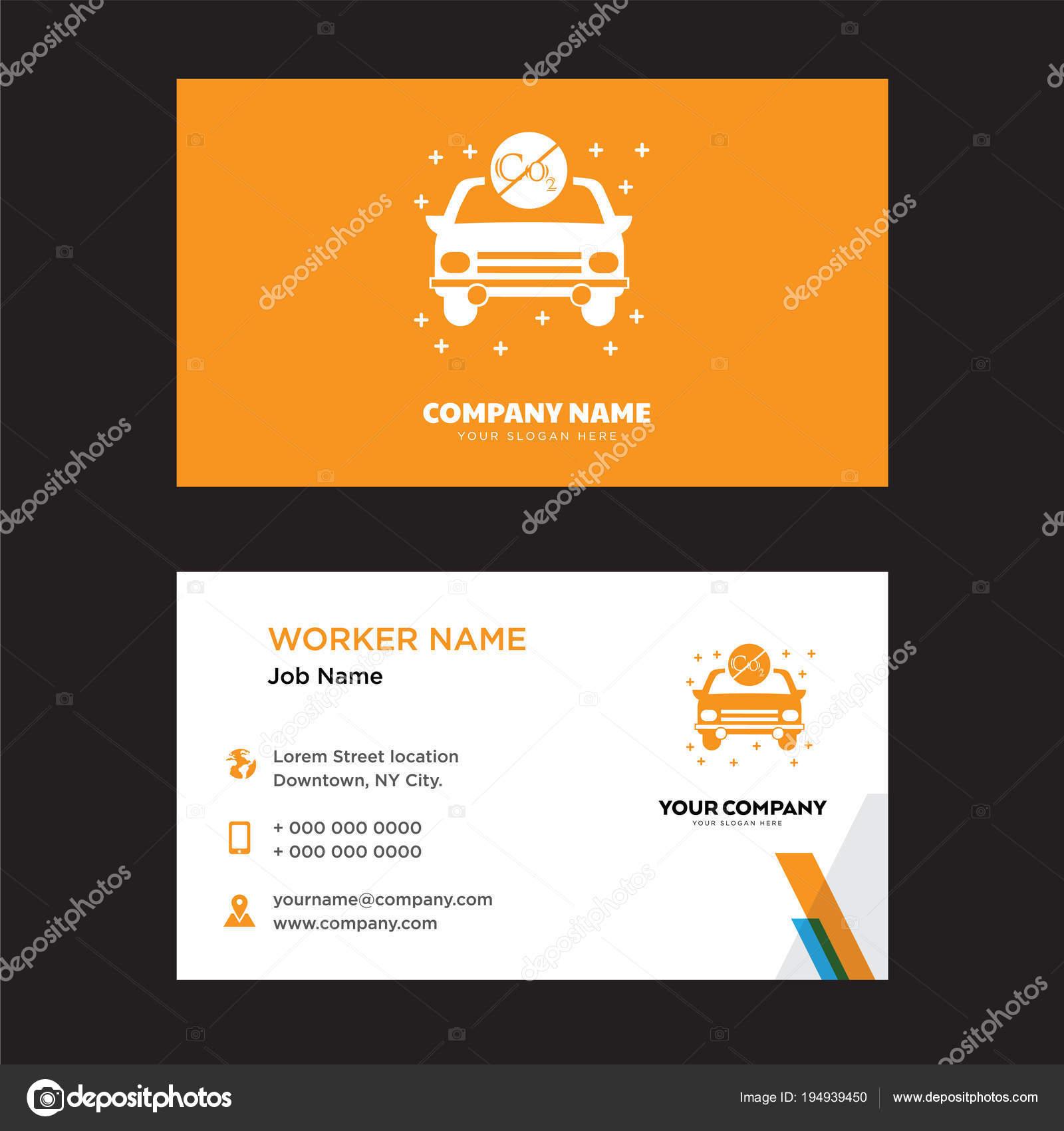 Elektrische Auto Visitenkarten Design Stockvektor