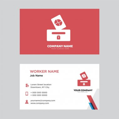 Elections business card design
