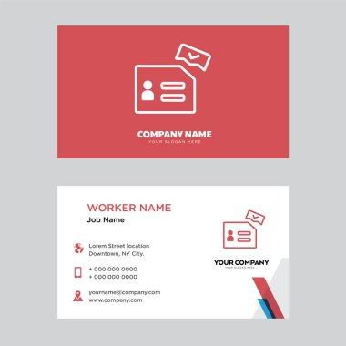 Ballot business card design