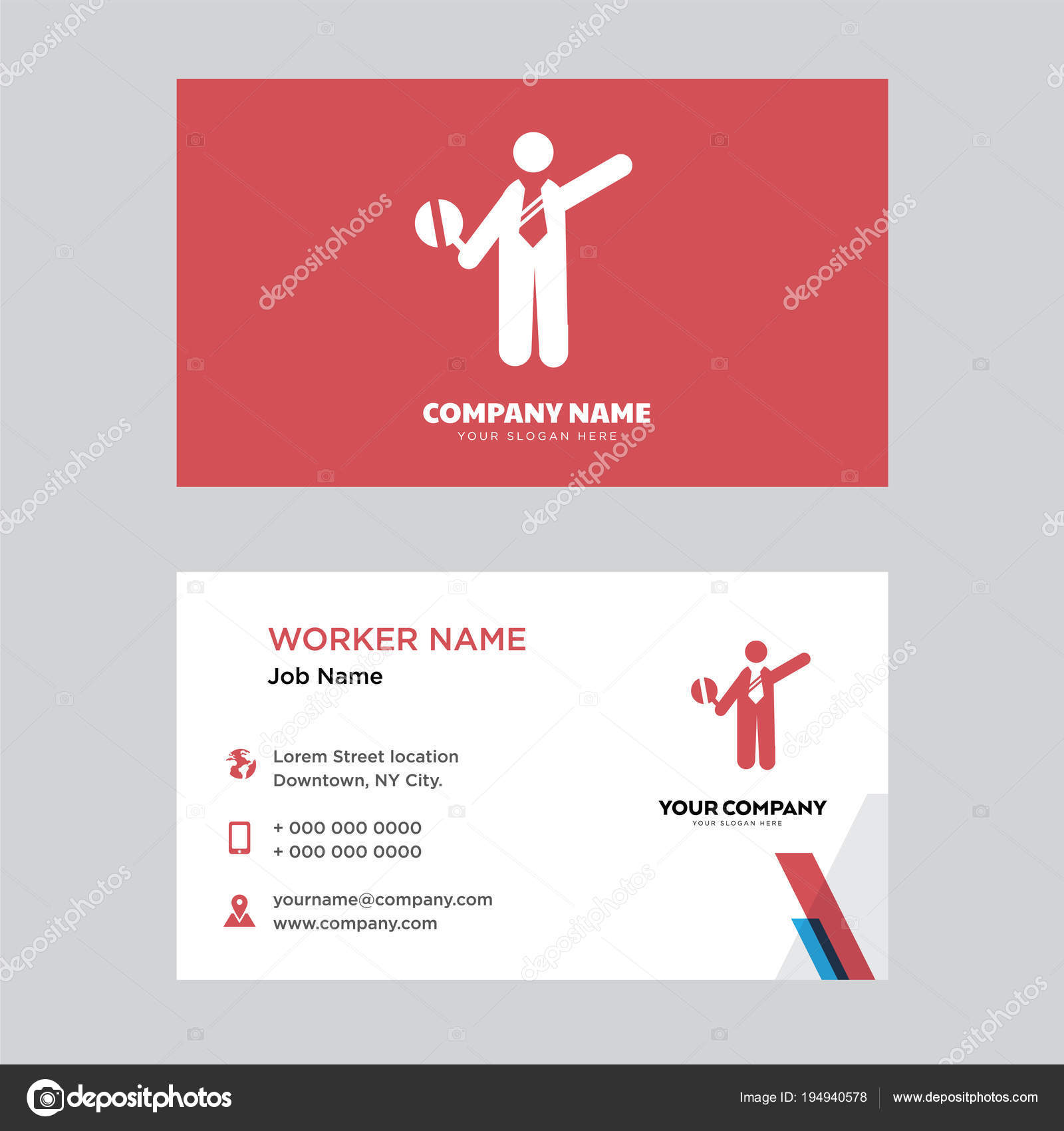 Traffic police business card design stock vector vectorbest traffic police business card design template visiting for your company modern horizontal identity card vector vector by vectorbest accmission Choice Image