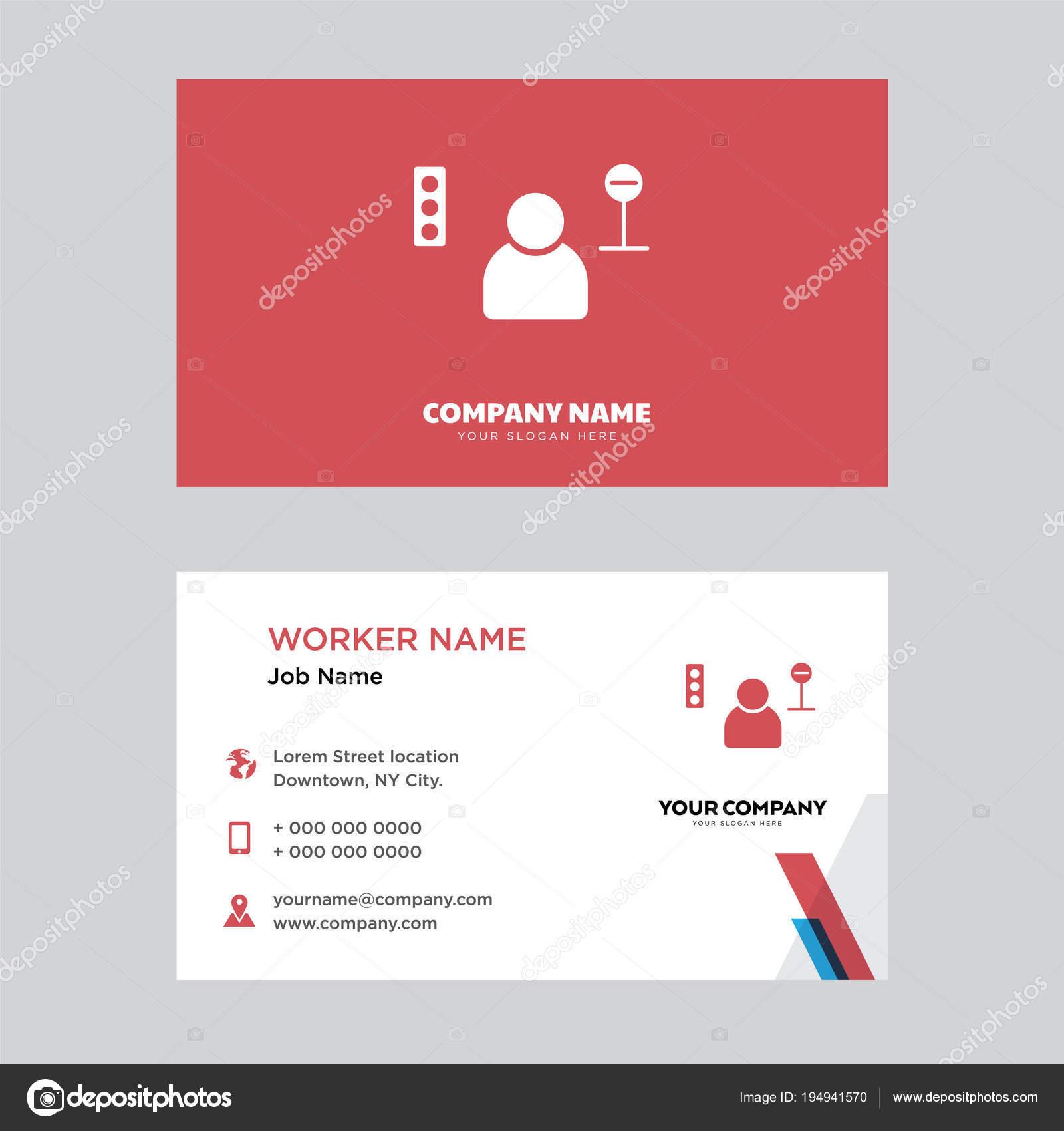 Taxi Fahrer Visitenkarten Design Stockvektor Vector Best