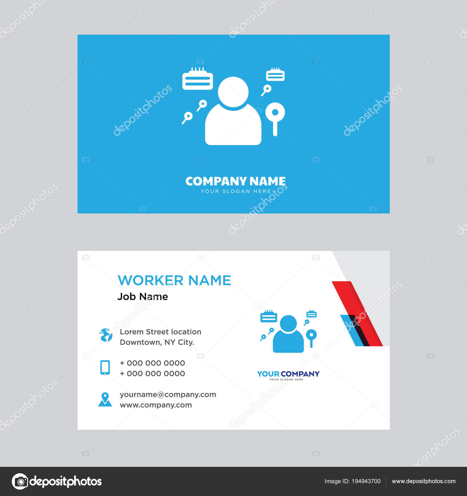 Detective business card design — Stock Vector © vector_best #194943700