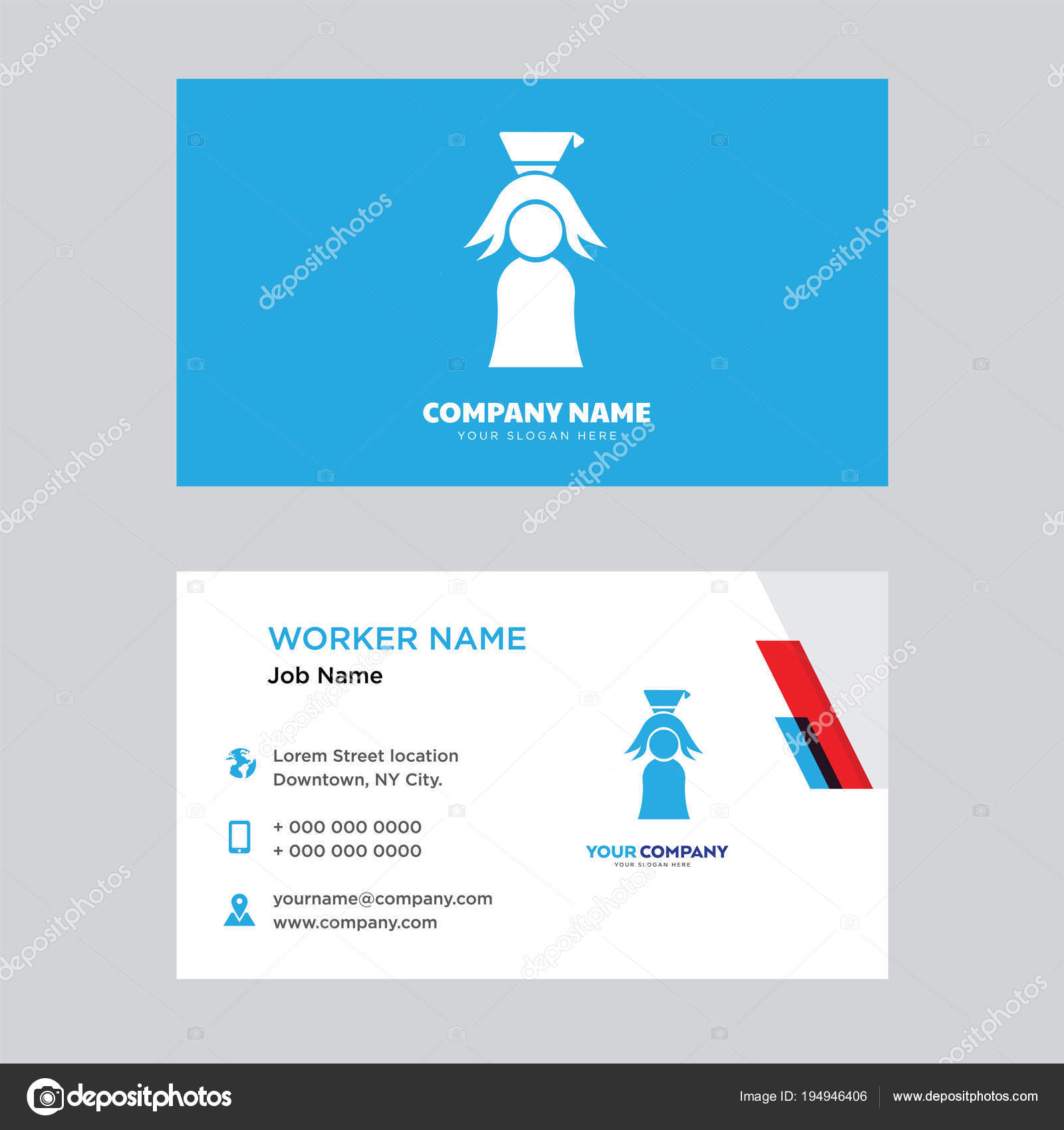 Graduate business card design stock vector vectorbest 194946406 graduate business card design stock vector colourmoves