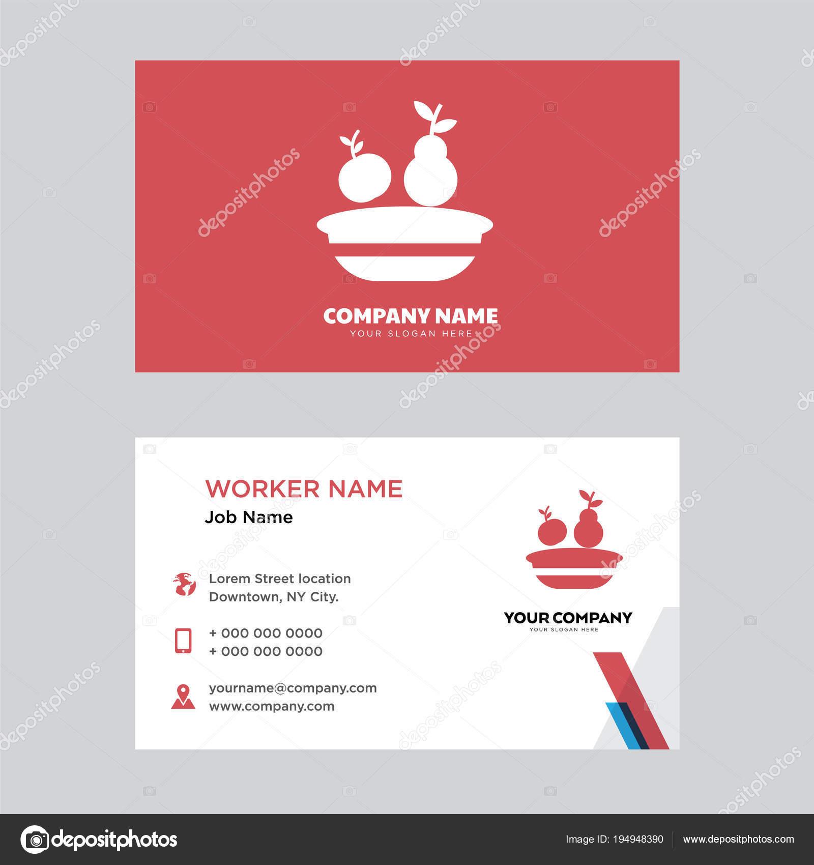 Mittagessen Kasten Visitenkarten Design Stockvektor