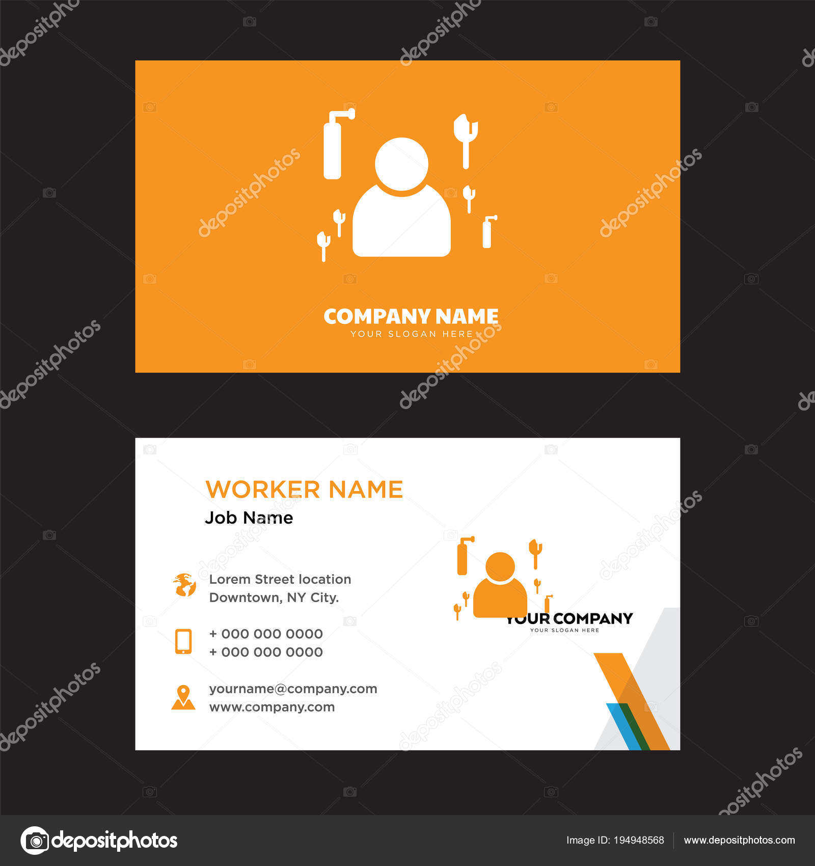 Maid business card design — Stock Vector © vector_best #194948568