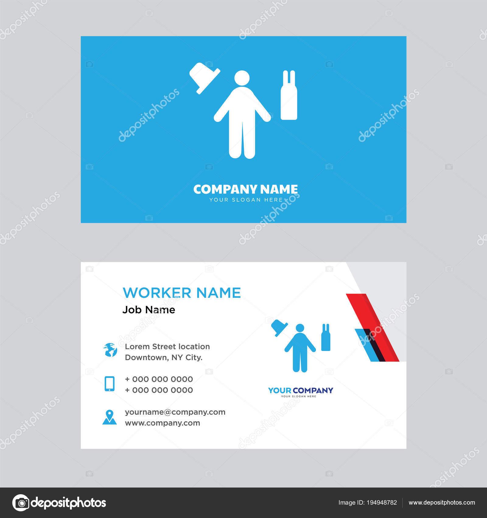 Magician business card design — Stock Vector © vector_best #194948782