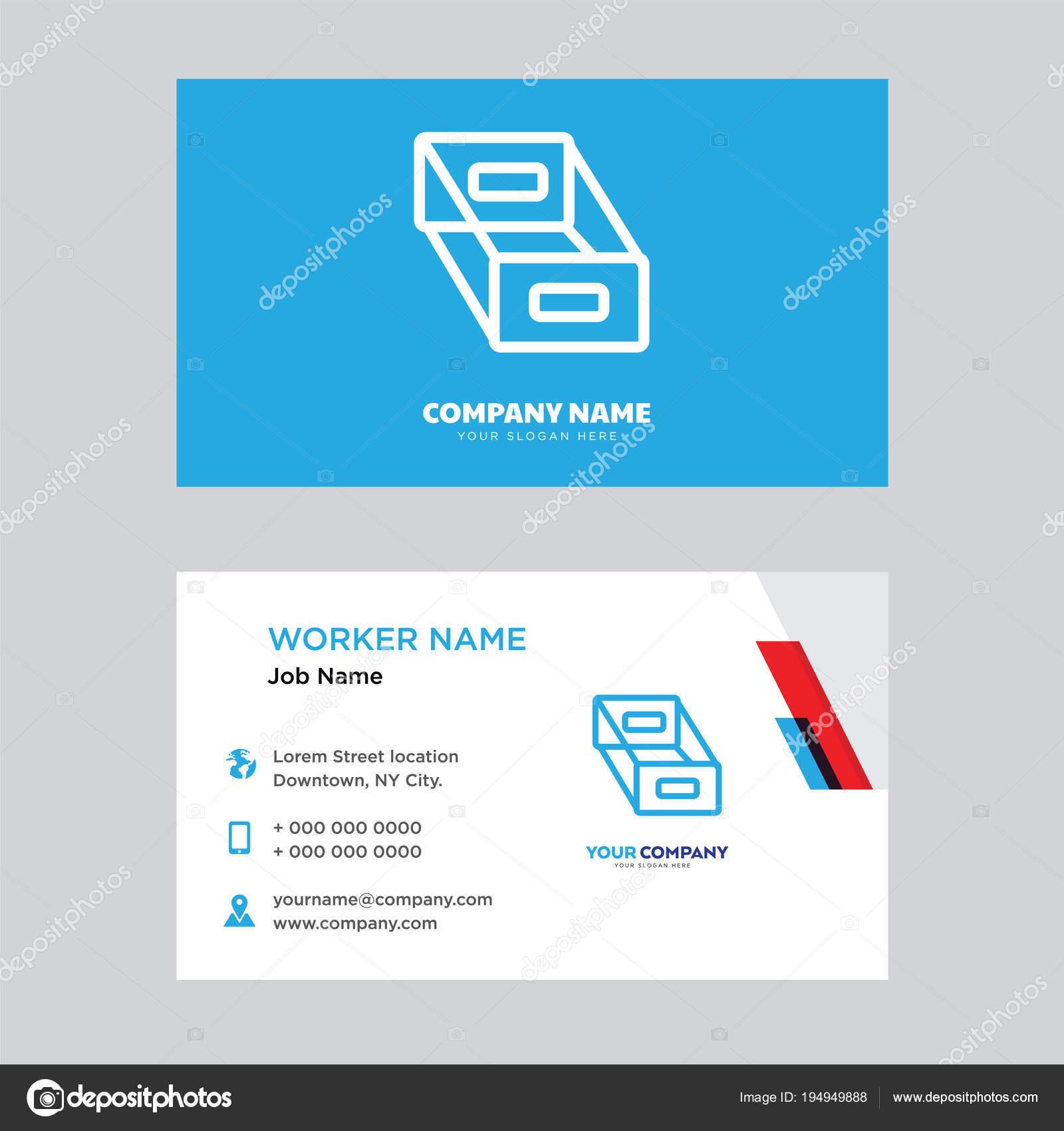 Visitenkarten Box Design Stockvektor Vector Best 194949888