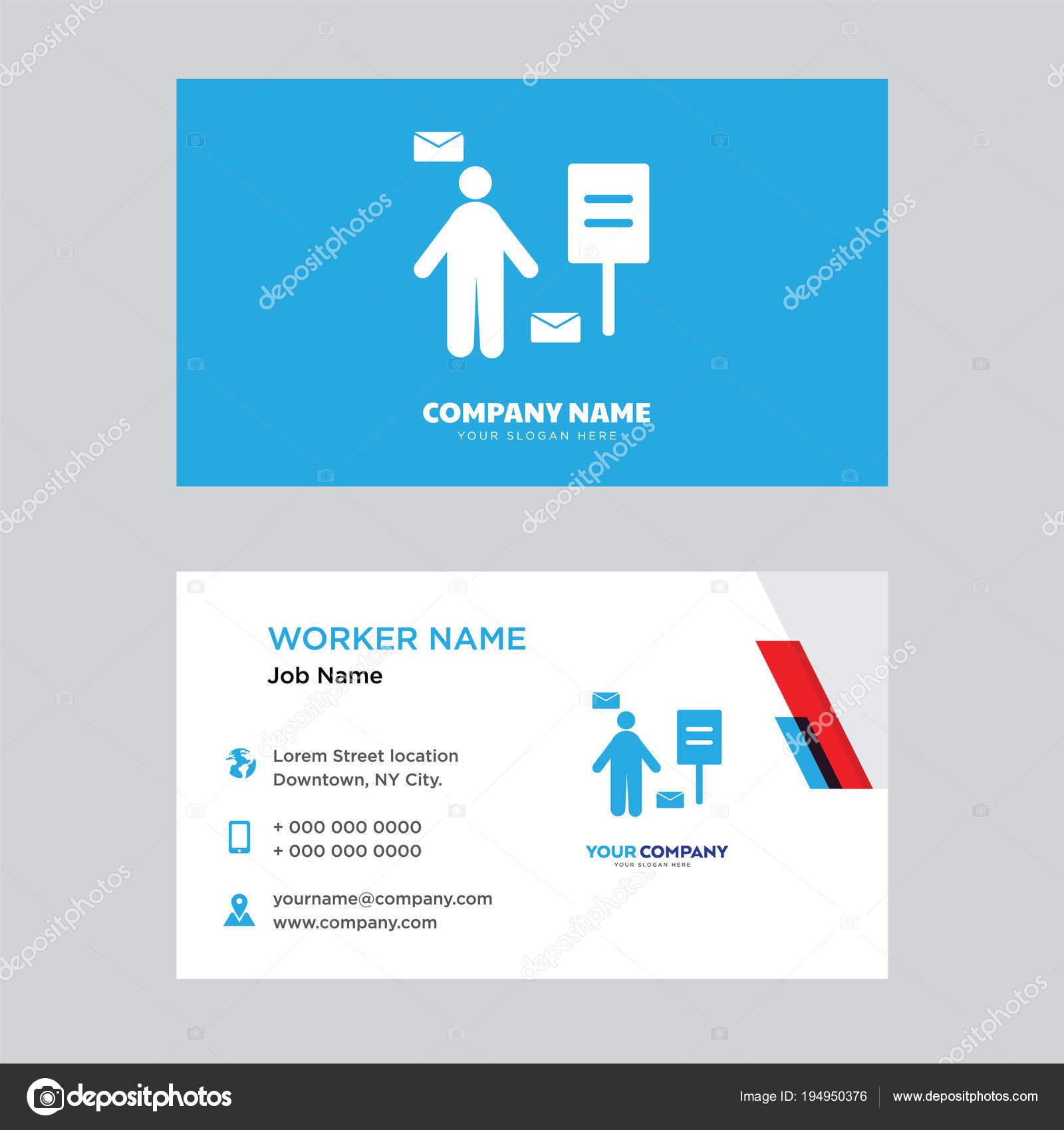 Postman business card design — Stock Vector © vector_best