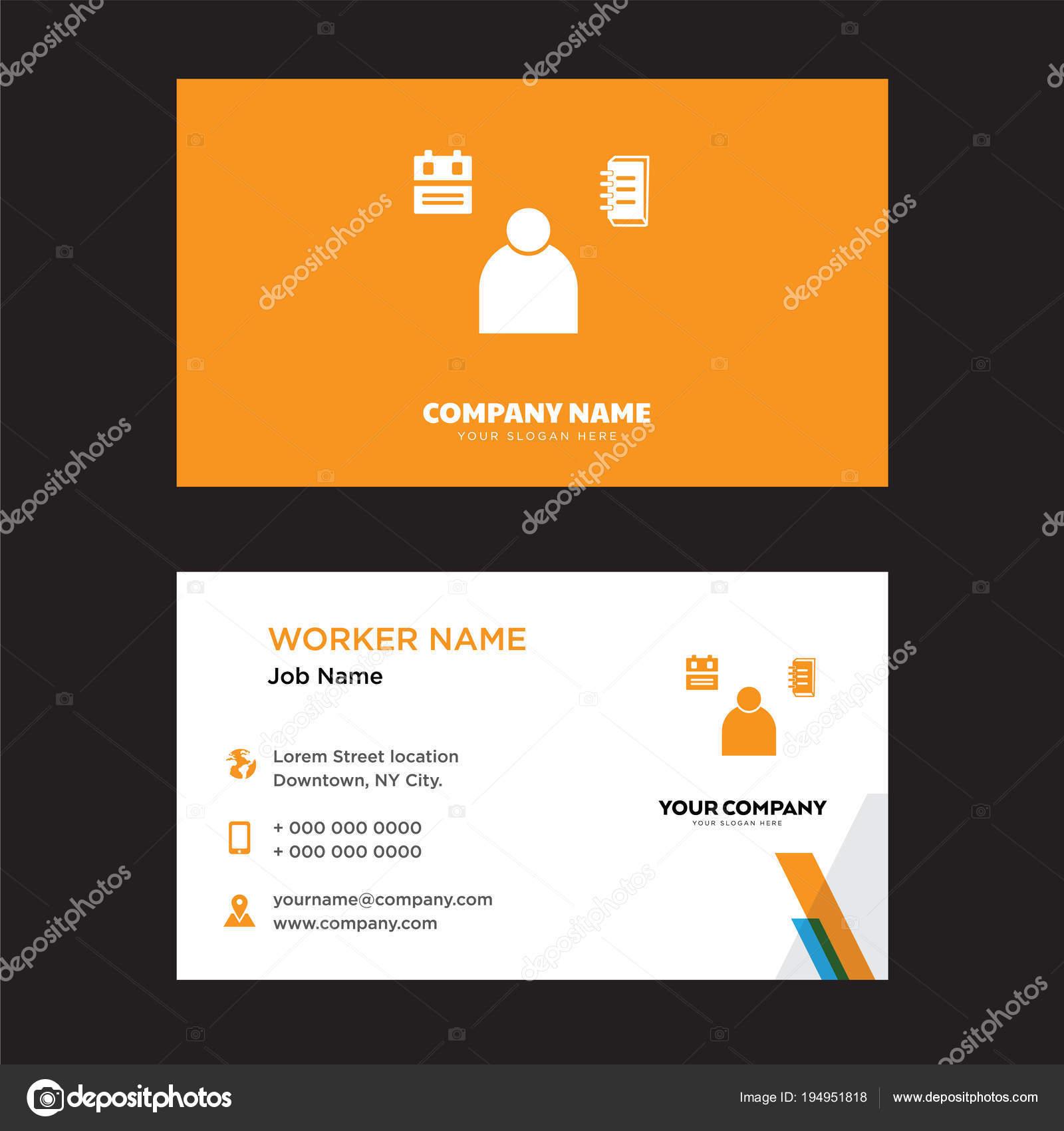 Student Visitenkarten Design Stockvektor Vector Best