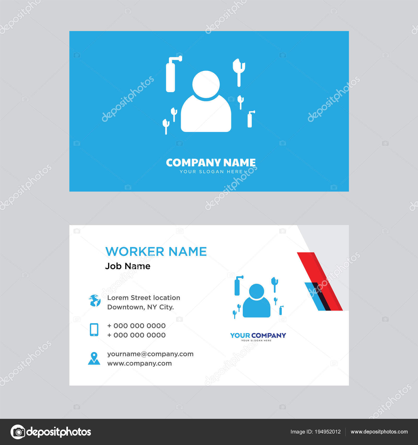 Maid business card design — Stock Vector © vector_best #194952012