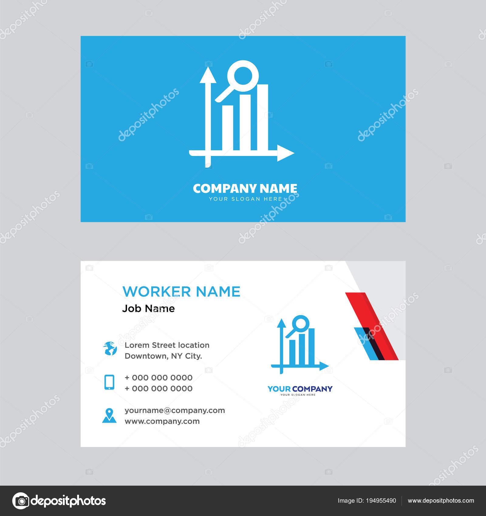 Suche Analytischen Visitenkarten Design Stockvektor