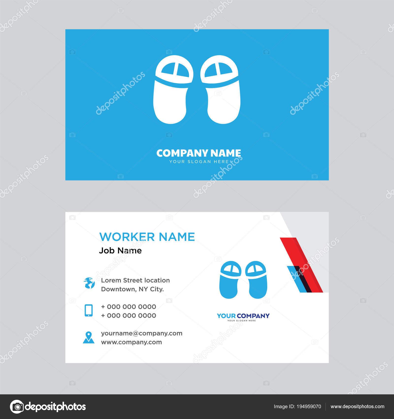 Flip flops business card design — Grafika wektorowa © vector best
