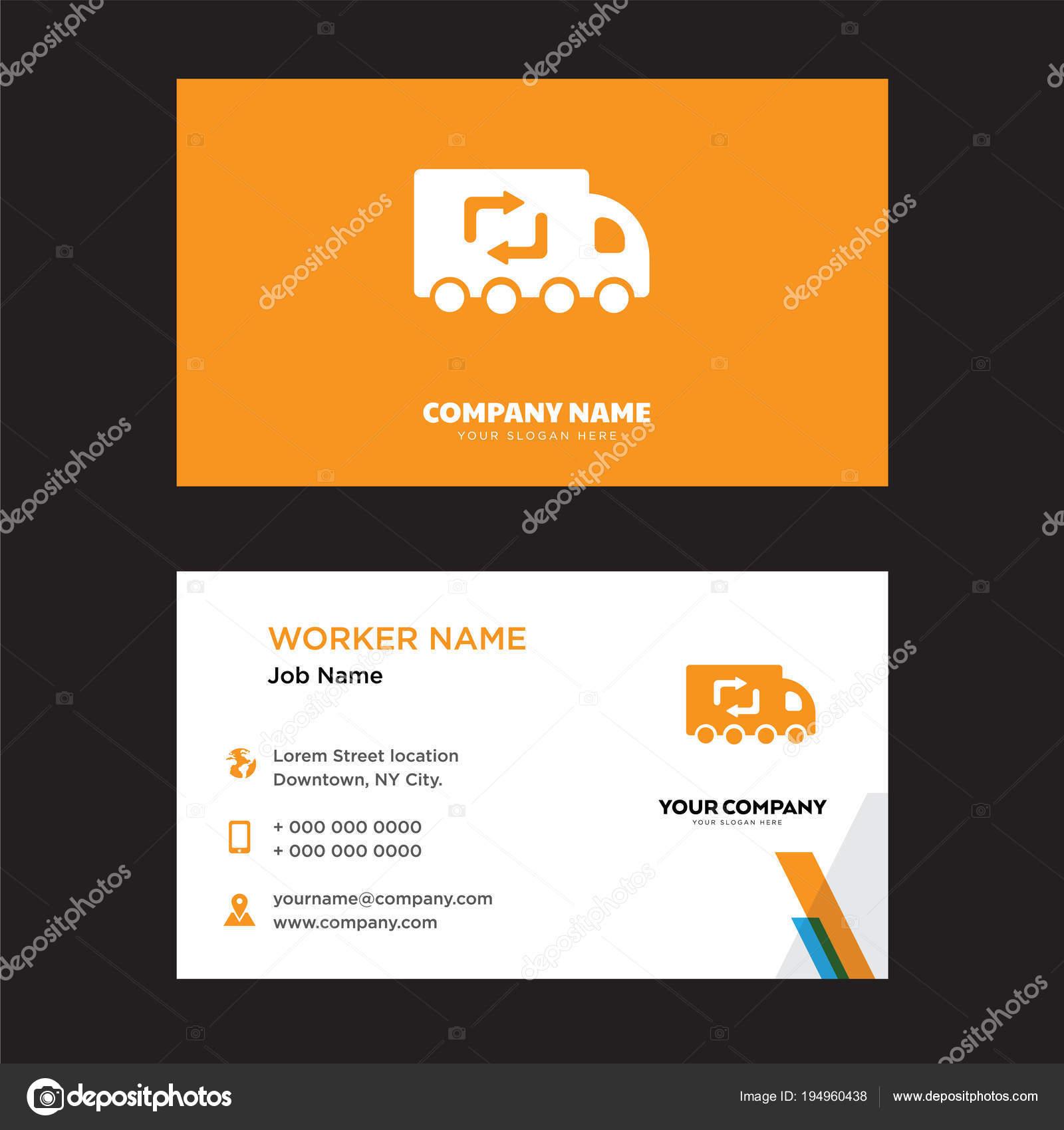 Recycling Lkw Visitenkarten Design Stockvektor