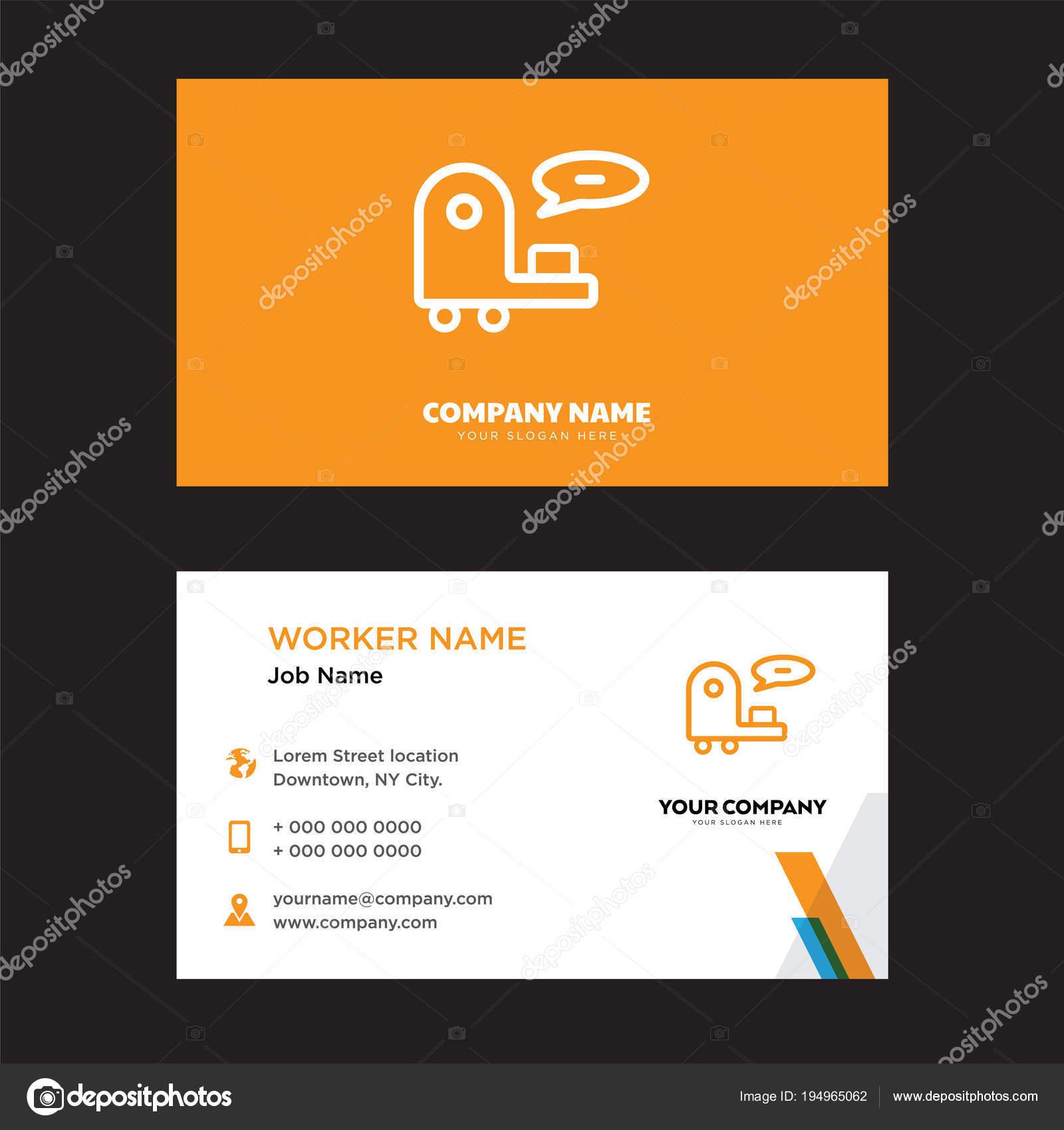 Kunden Support Visitenkarten Design Stockvektor