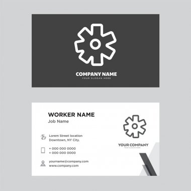 Settings business card design