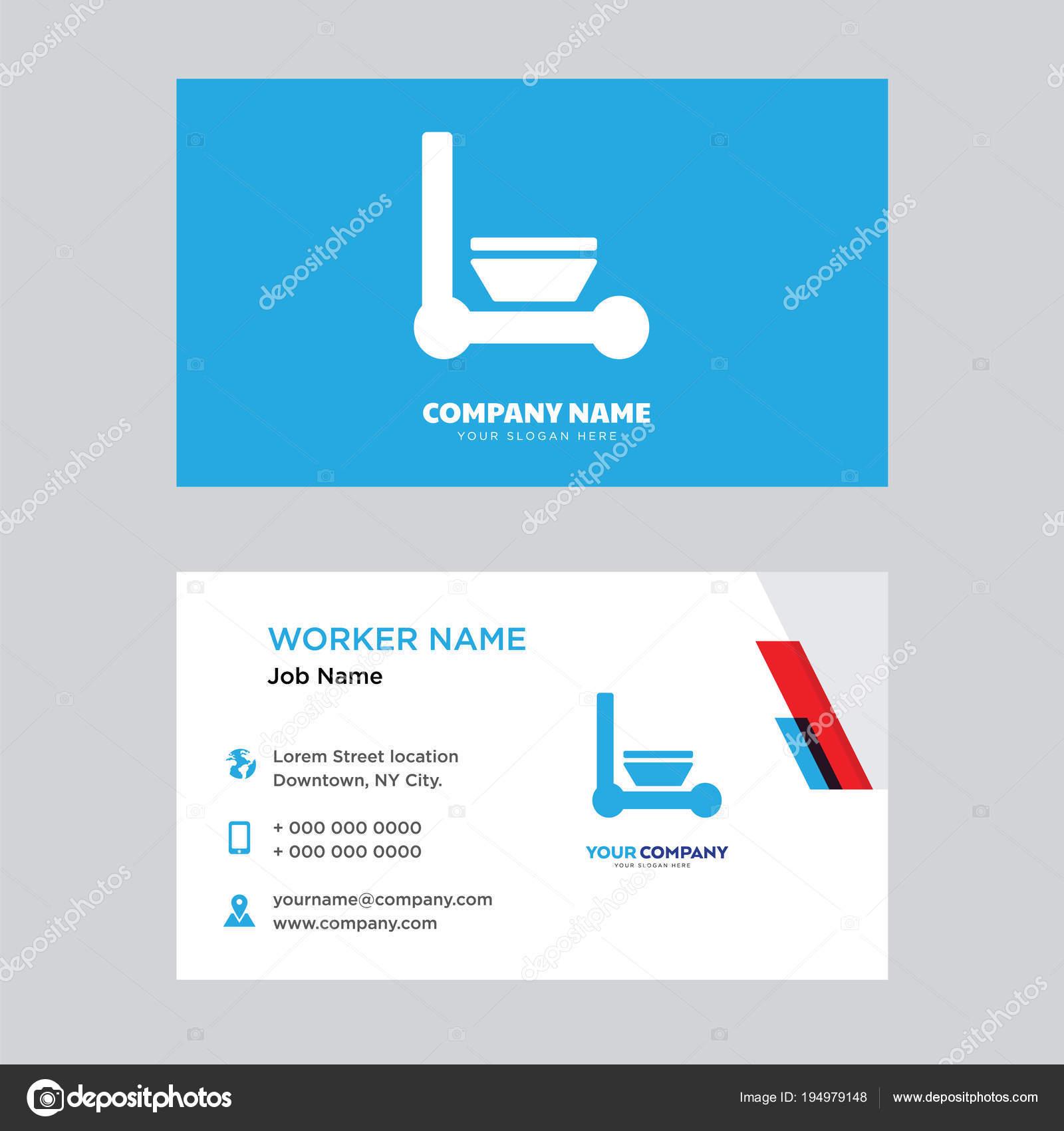Reinigung Von Visitenkarten Design Stockvektor