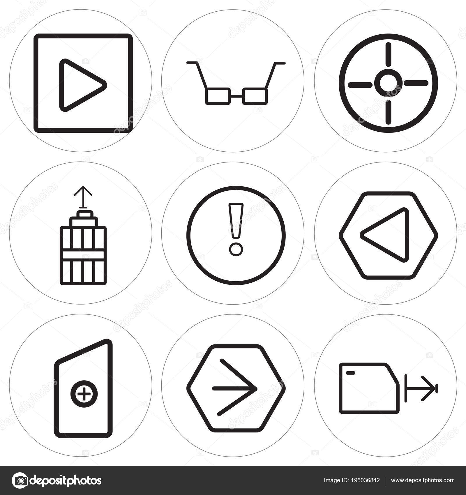 Set Of 9 Simple Editable Icons Such As Folder Youtube New File