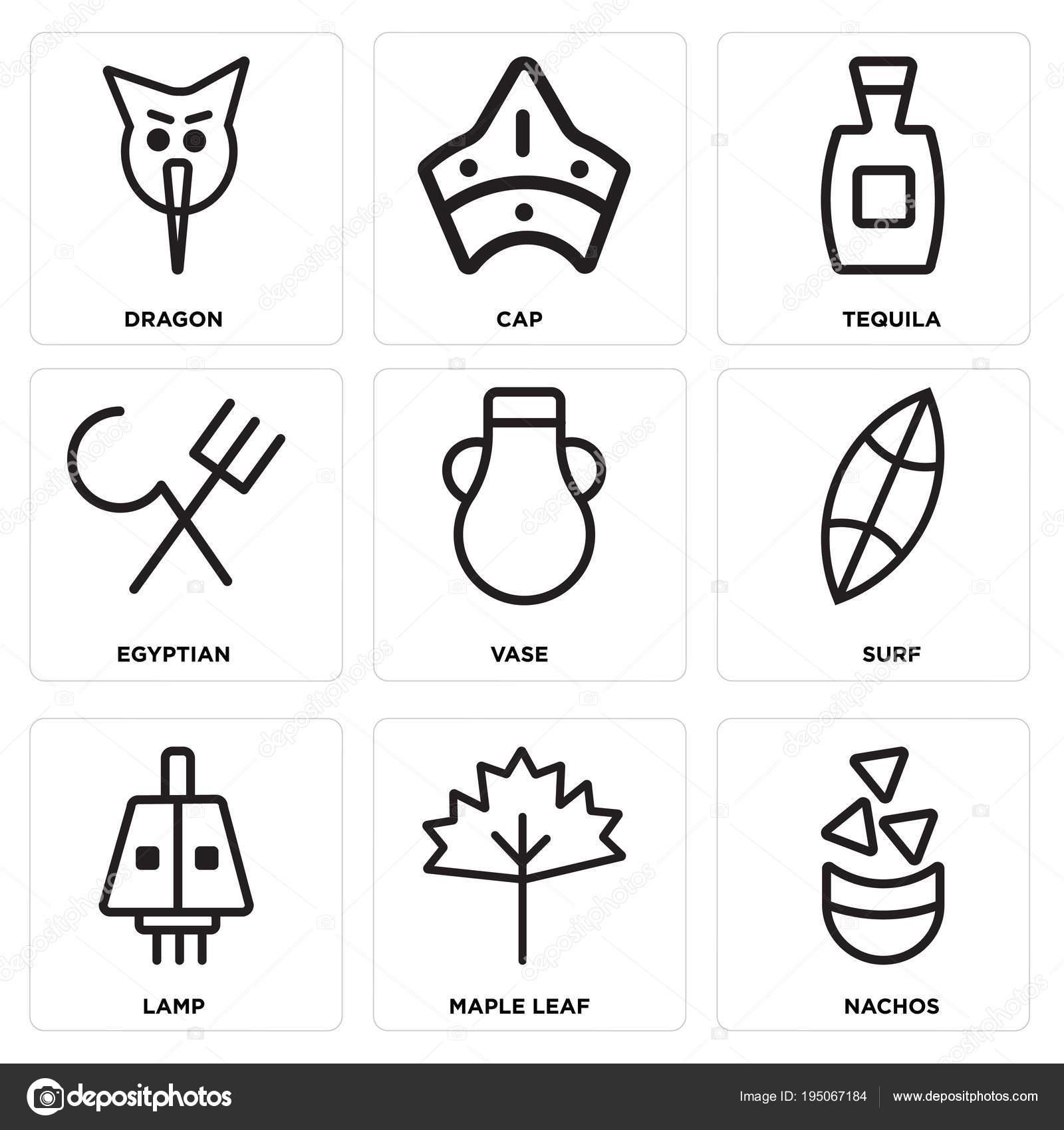 Set de 9 iconos editables simple como Nachos ce40718e38b