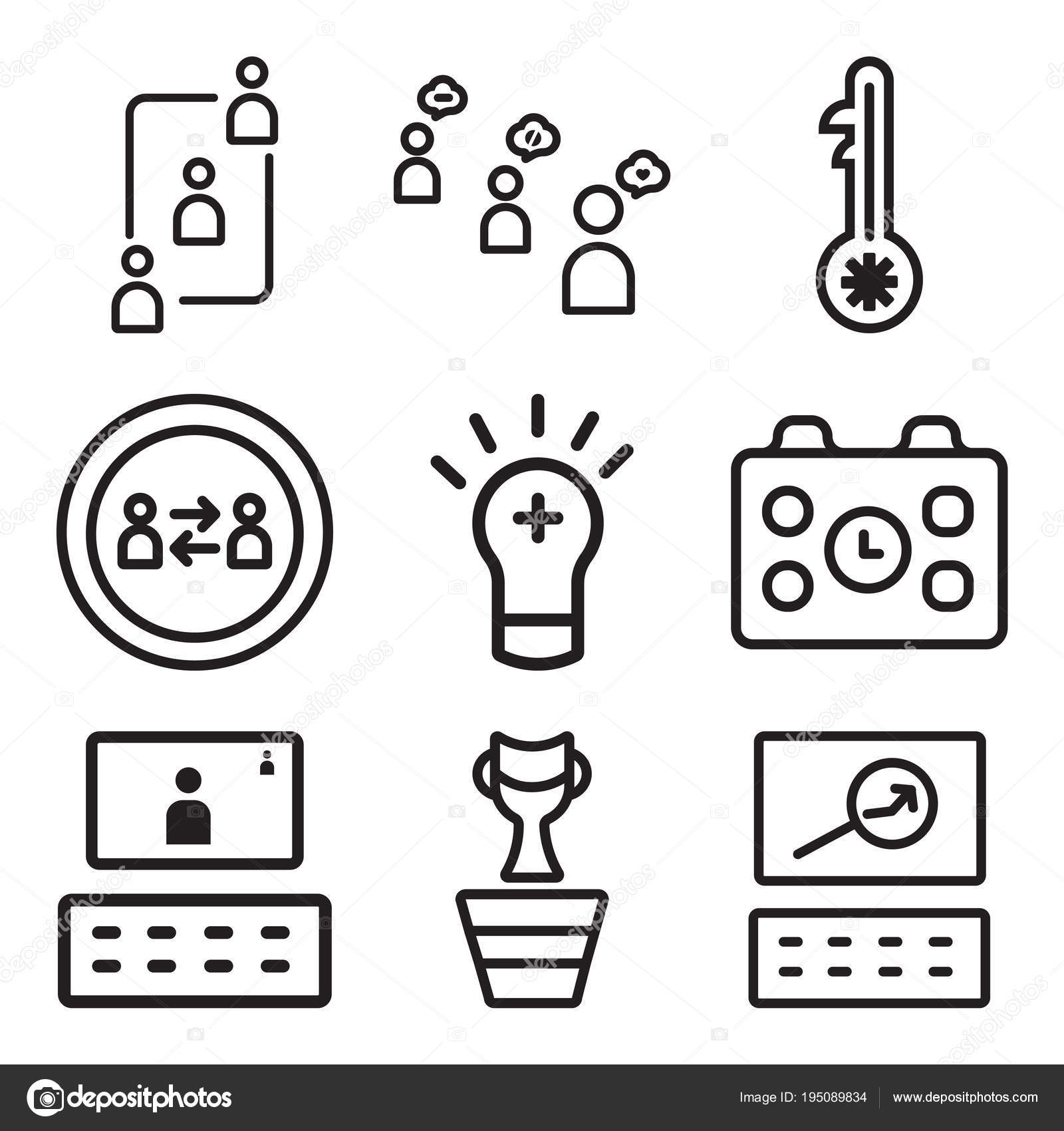 Set Of 9 simple editable icons such as Website, Winner