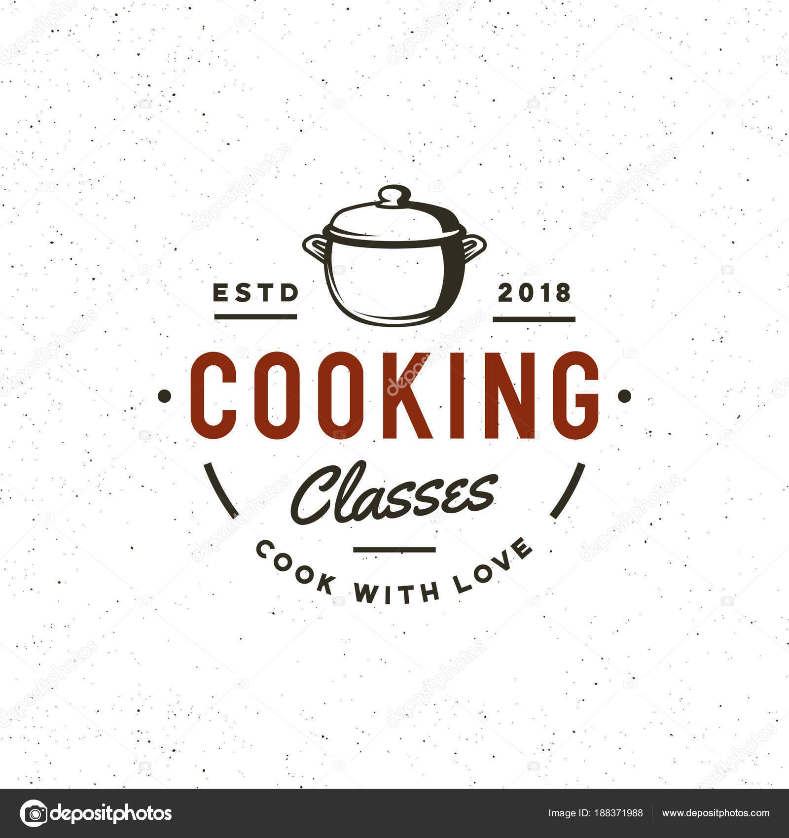Kochschule logo  Jahrgang kochen Klassen Logo. Retro Stil Kochschule Emblem. Vektor ...