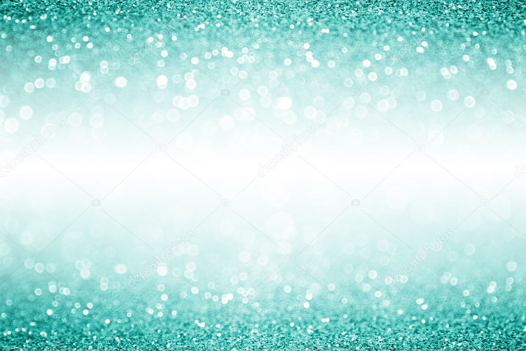 Elegant Teal Turquoise And Aqua Mint Green Glitter Sparkle Confetti Background Or Party Invitation For Christmas Birthday With White Space Photo By