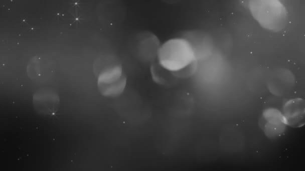 Kolekce rozostřených kulatých kuliček v černobílém provedení Hd 1920x1080