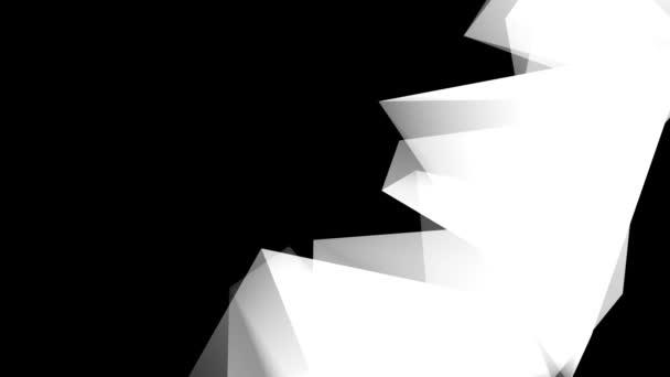 Pohyb geometrických prvků v bílé na černém pozadí Hd 1920x1080