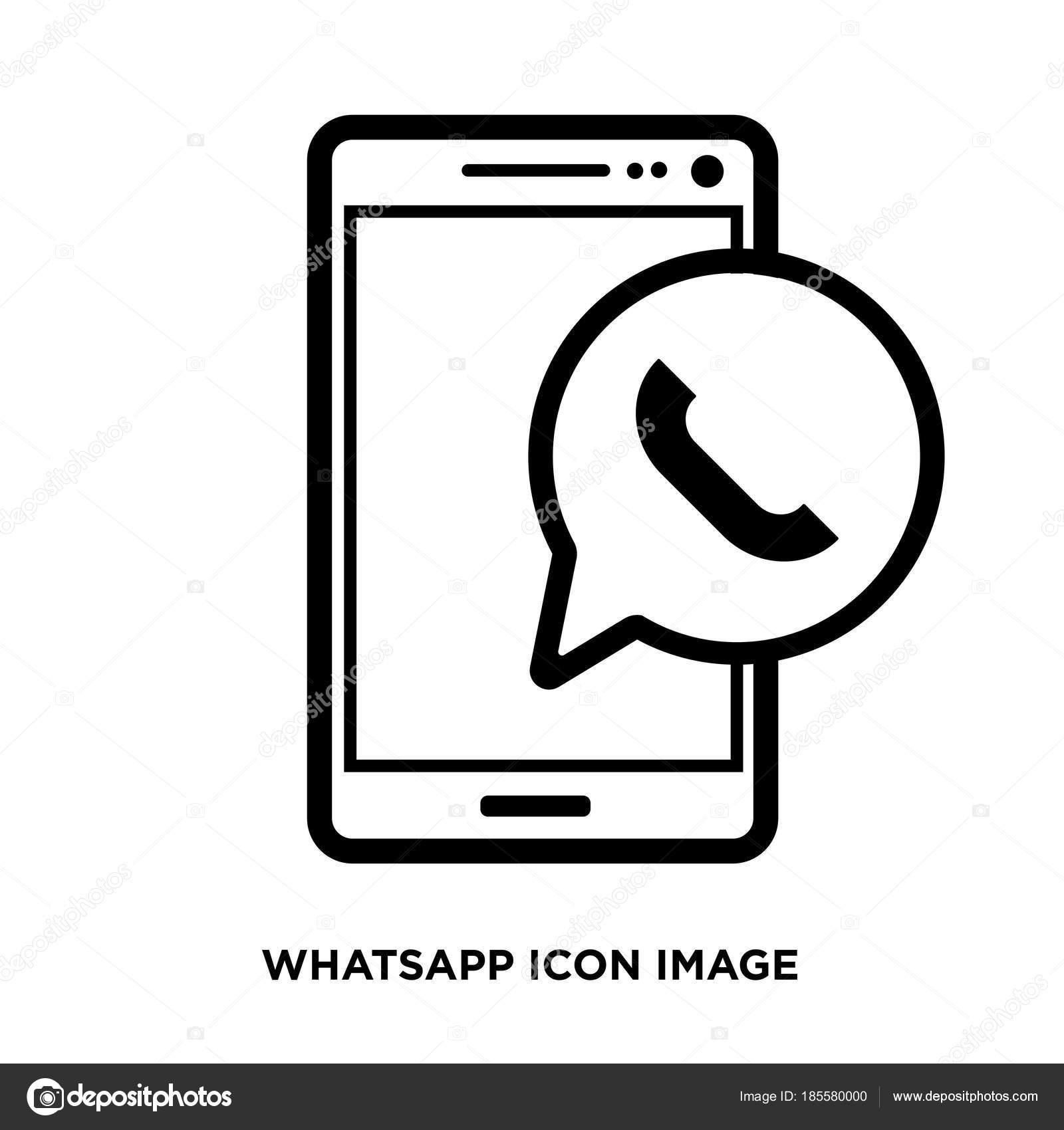Icone Whatsapp Vetor Branco