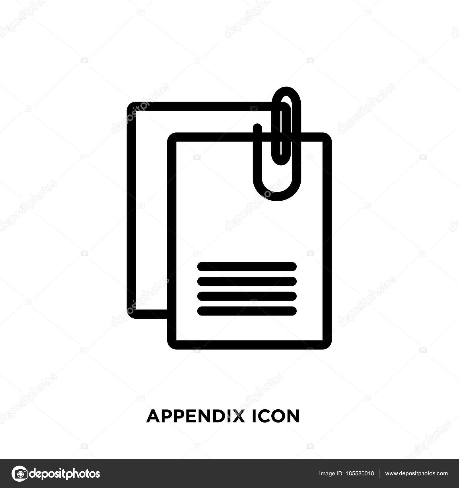 appendix icon vector — Stock Vector © urfandadashov #185580018