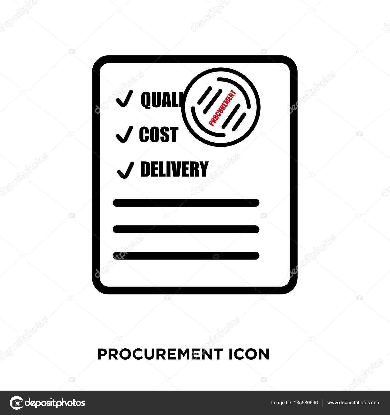 procurement icon vector � stock vector 169 provectorstock