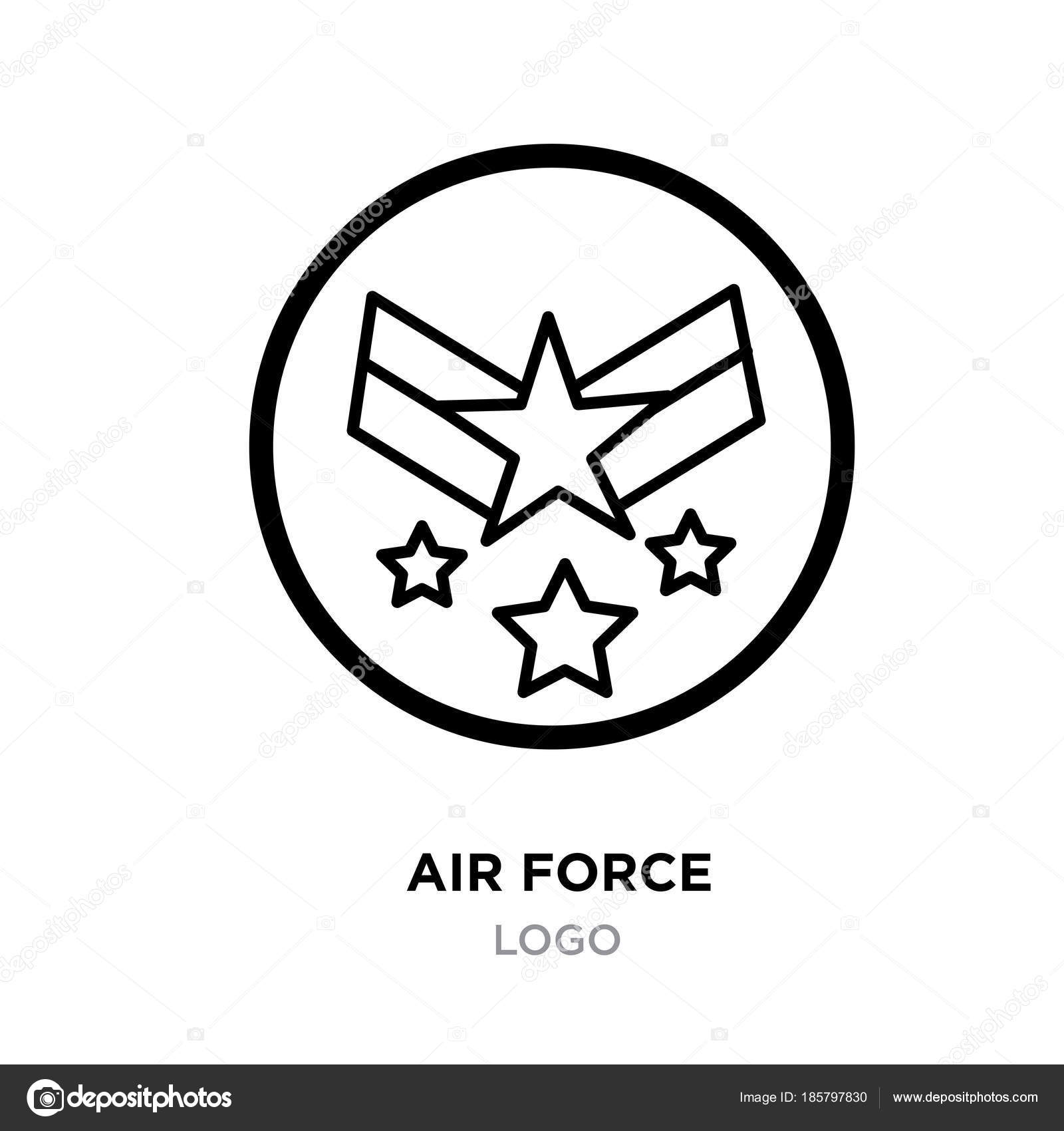 Air force logo images linear military emblem icon image with st air force logo images linear military emblem icon image with st stock vector voltagebd Images