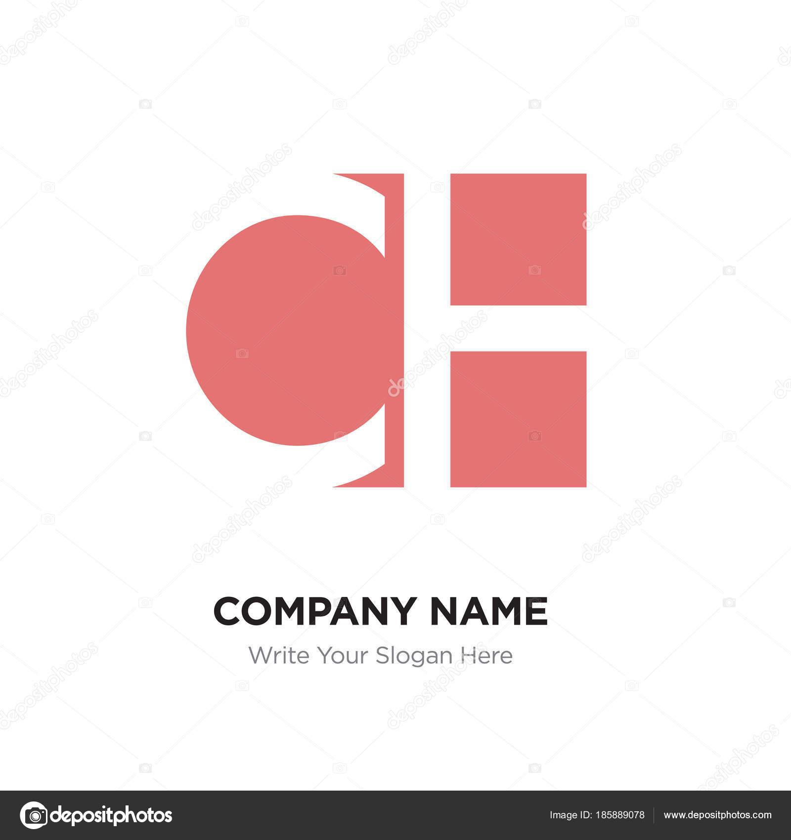 Resumen carta plantilla de diseño de logotipo Ch Hc, rojo alfabeto ...