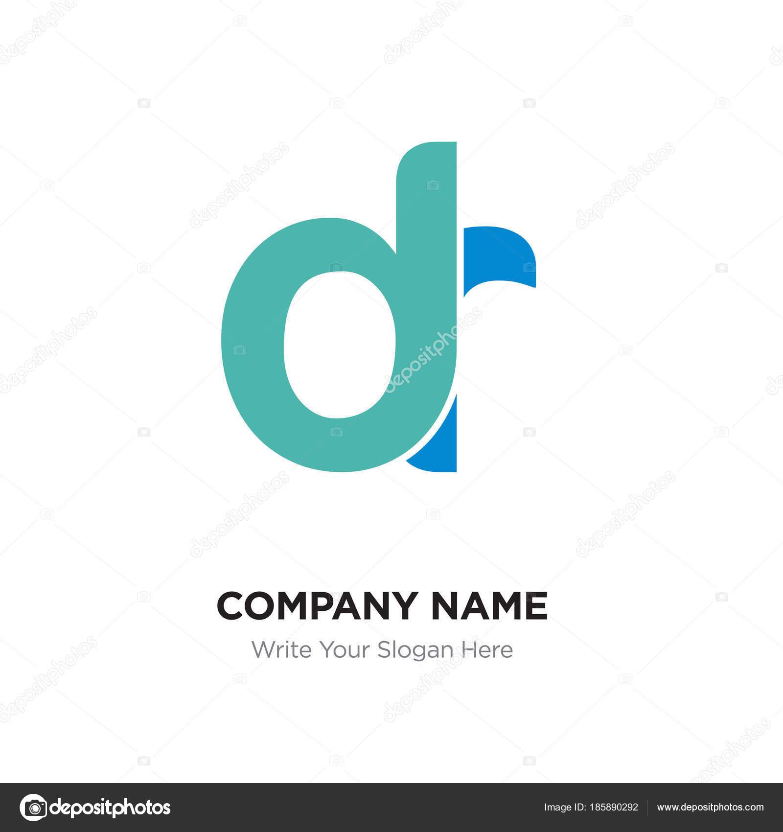 Abstract letter dr, rd logo design template, green Alphabet init ... for Logo Design For Alphabets  588gtk