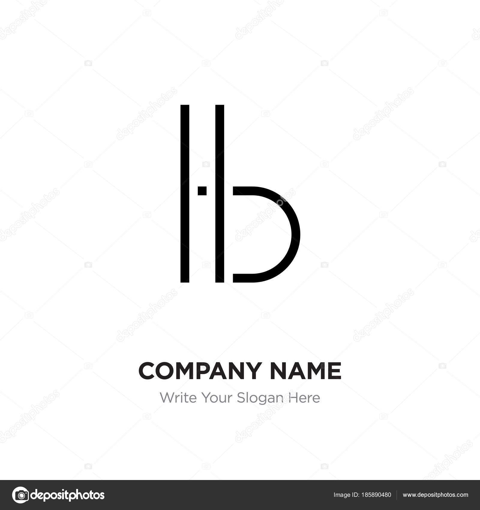 Bh Design abstract letter bh hb logo design template black alphabet initi