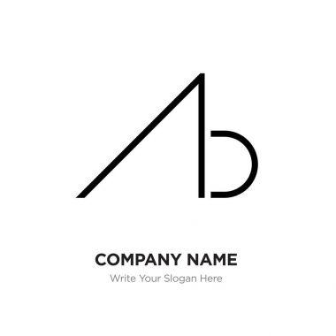 Abstract letter AB,BA logo design template, Black Alphabet initi