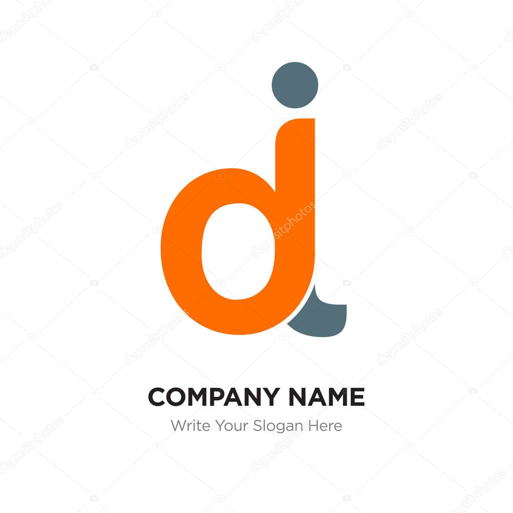 abstract letter dj jd logo design template black orange alphabet initial letters company name concept flat thin line segments connected to each other premium vector in adobe illustrator ai abstract letter dj jd logo design
