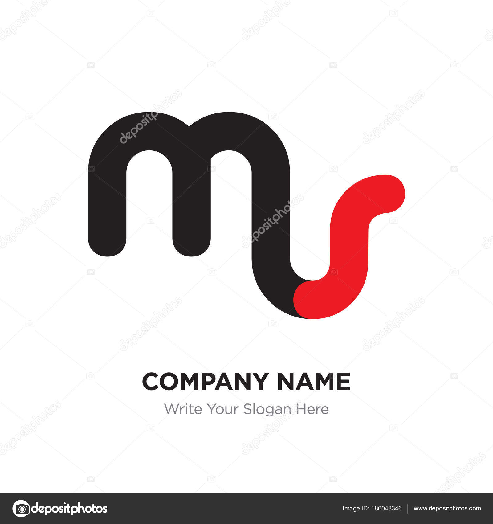 Ms name logo | Abstract letter ms or sm logo design template
