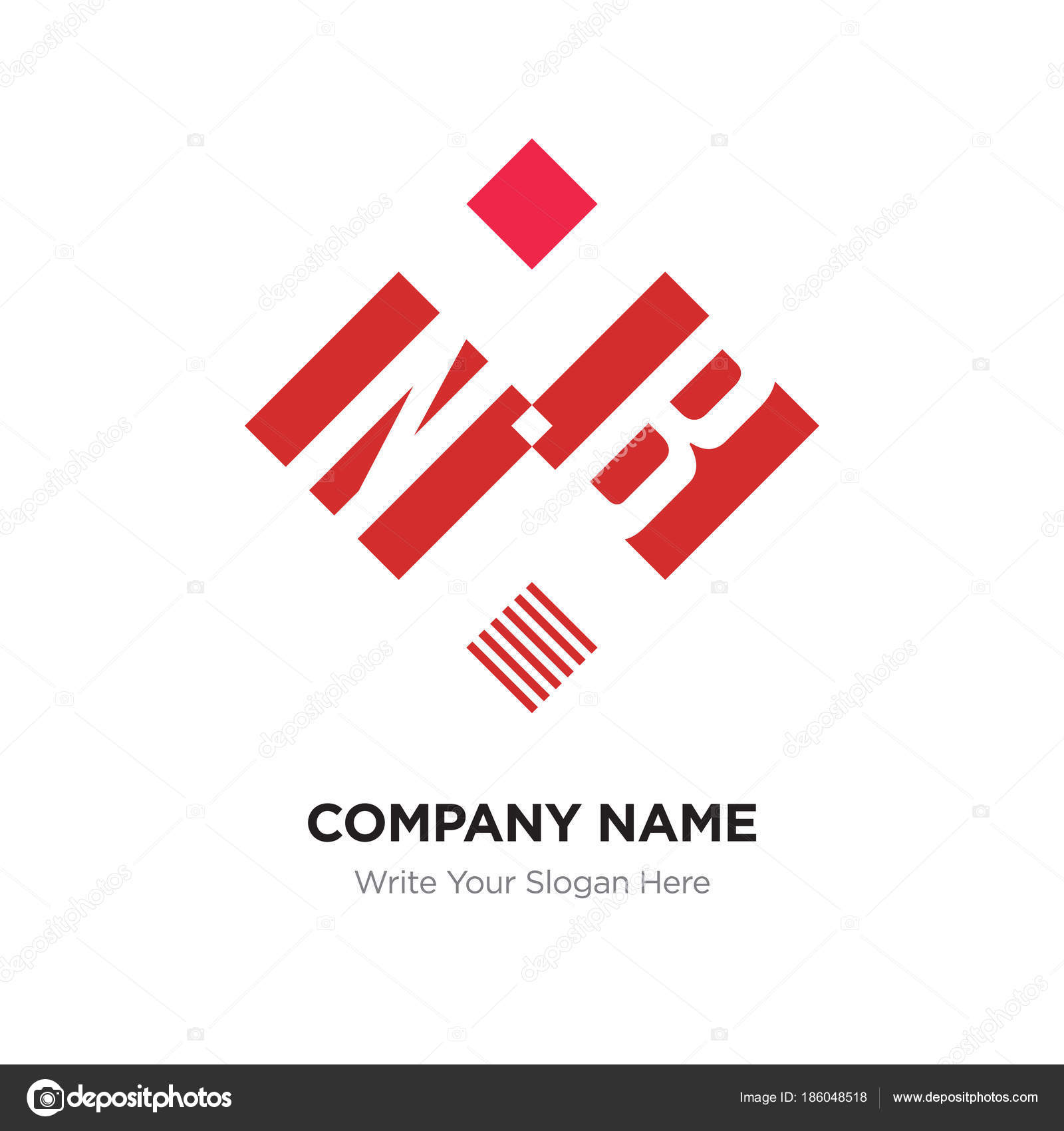 Nb logo name | Abstract letter NB or BN logo design template