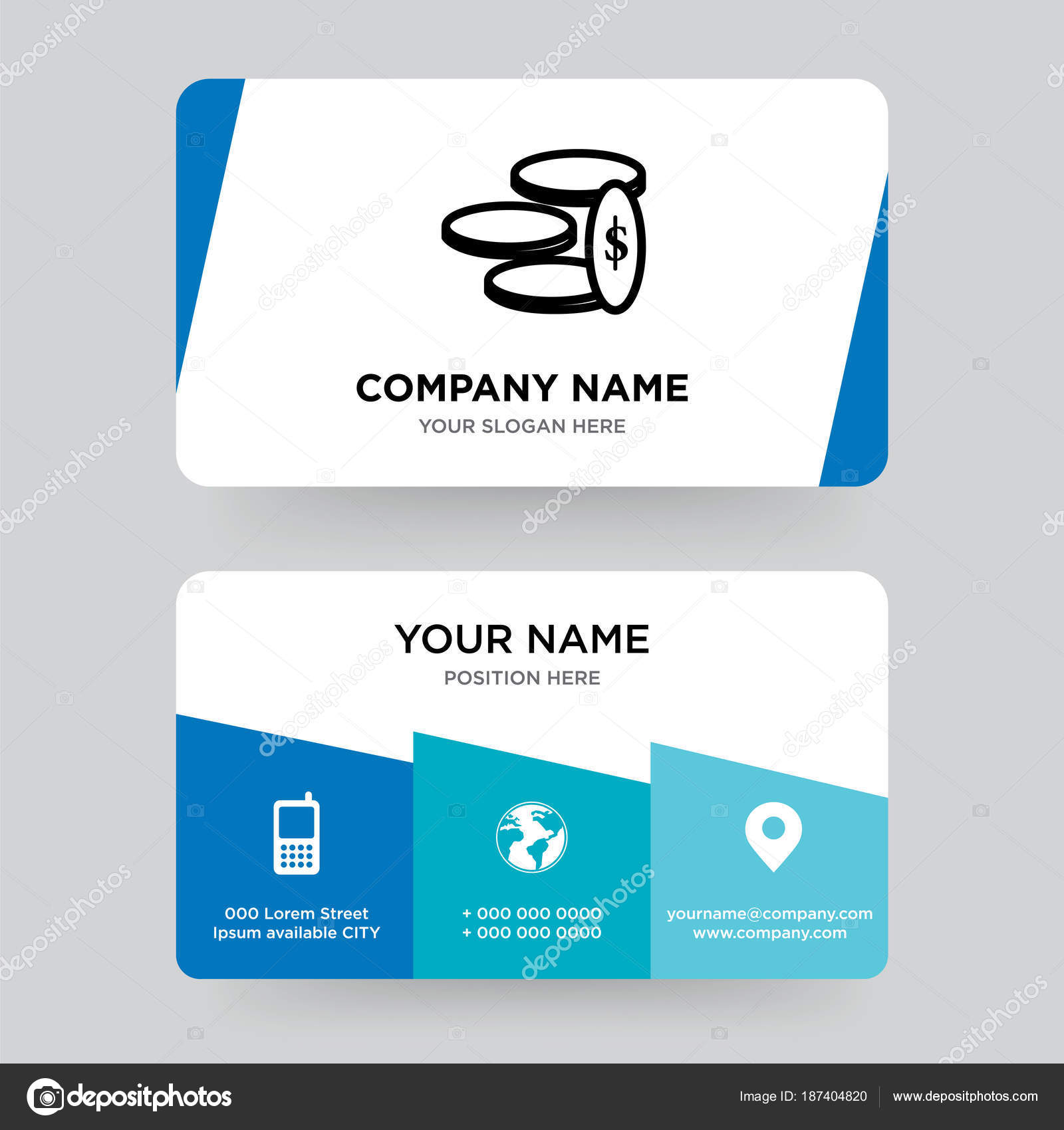 Money business card design template, Visiting for your company ...