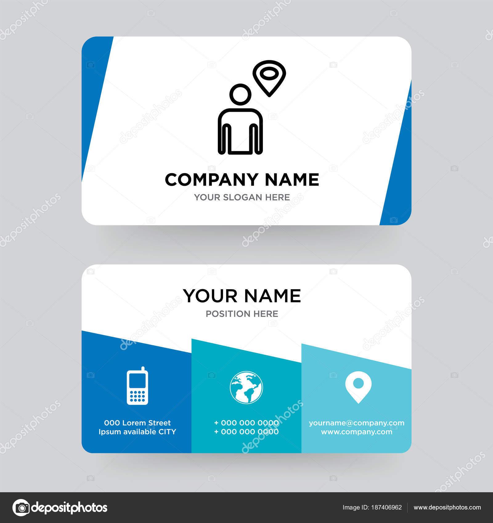 Pointeur De Carte Avec Le Modele Conception Visite Ligne Lhomme En Pour Votre Entreprise Moderne Creative Et Identite Propre
