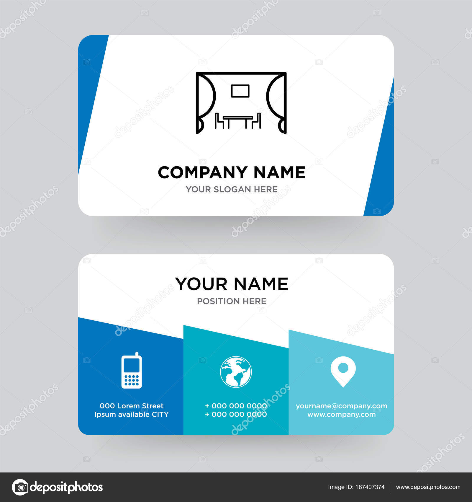 Kitchen Business Card Design Template Visiting For Your Company