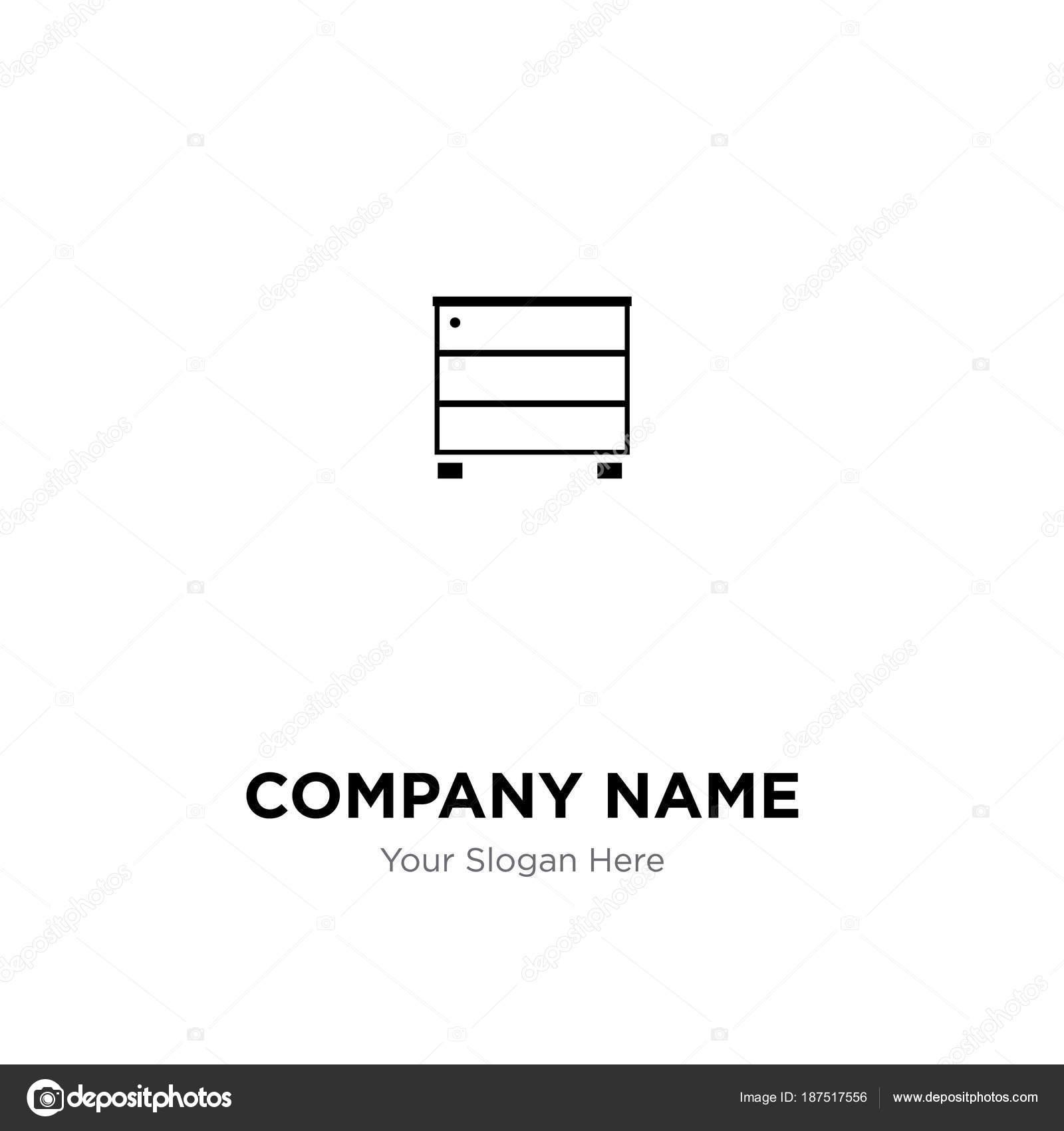 Mobilya Dolap Sirket Logo Tasarim Sablonu Is Corpor Stok