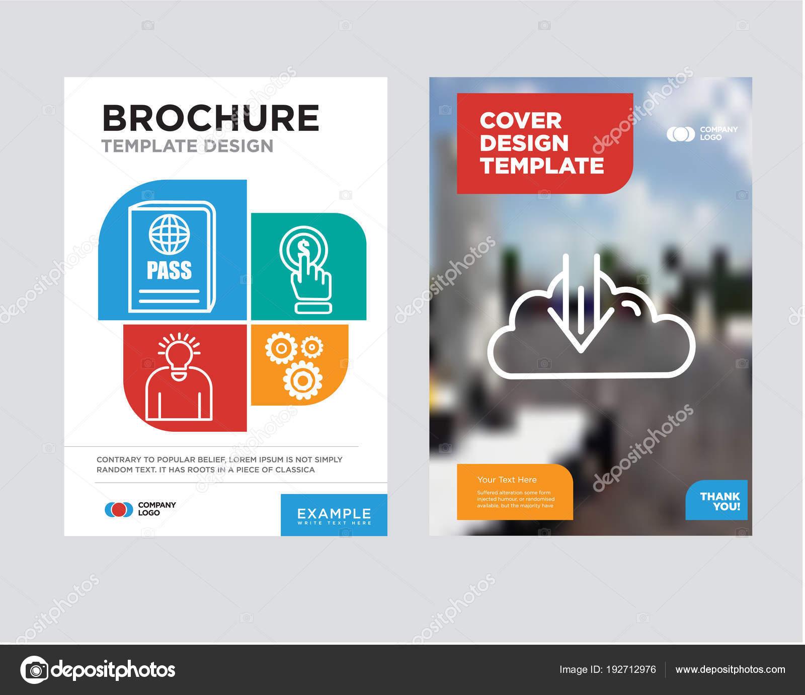 descargar plantilla diseño de folleto flyer — Vector de stock ...