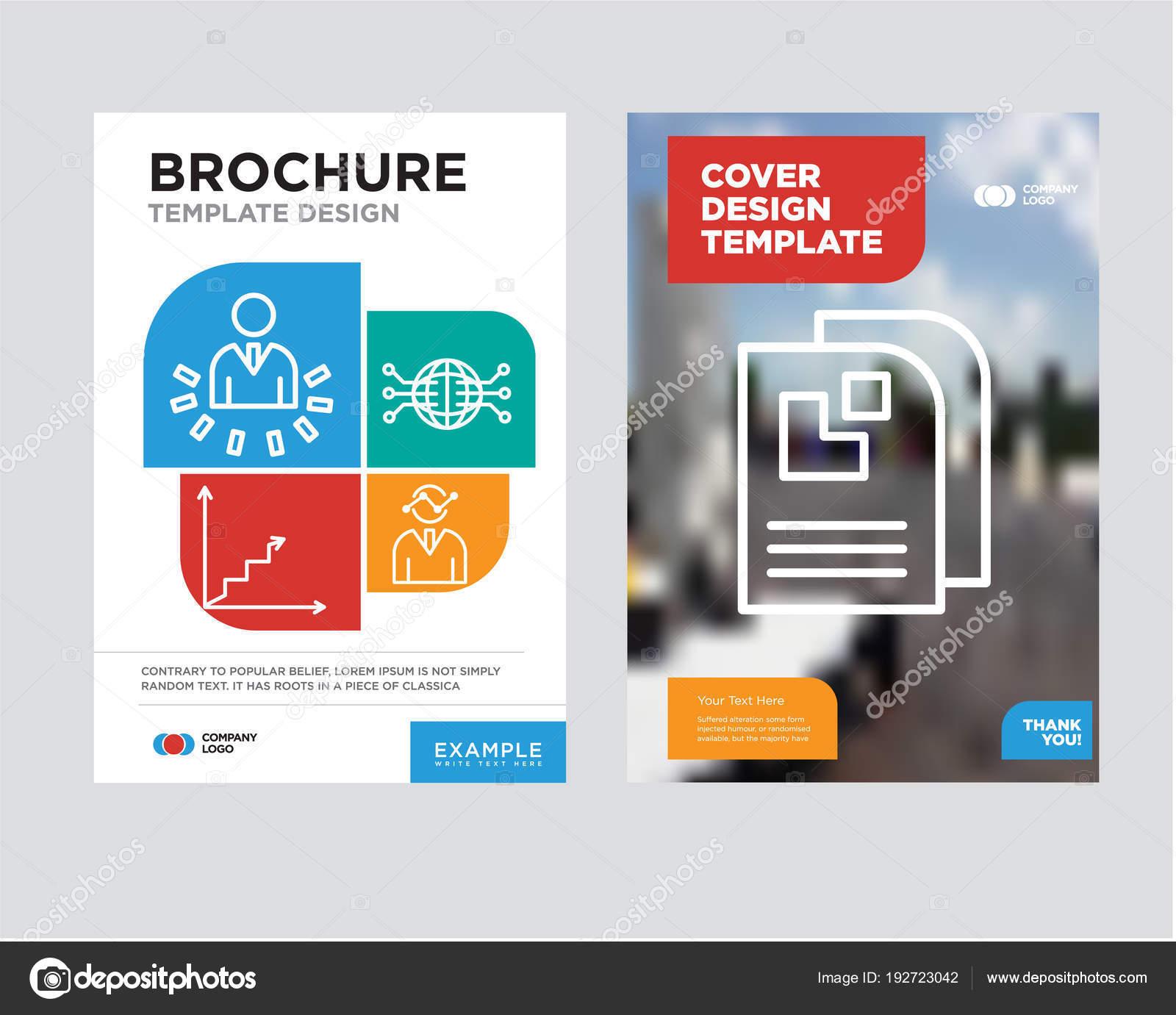 data page brochure flyer design template stock vector