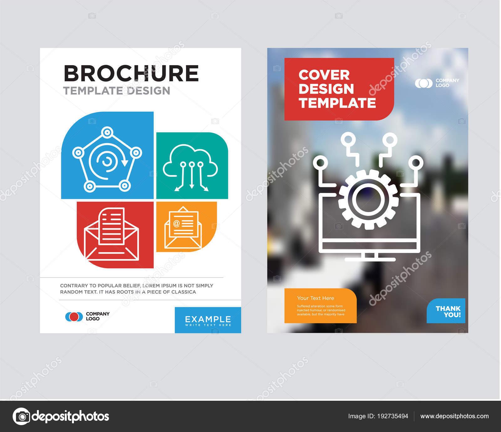 plantilla de diseño de Laptop folleto flyer — Archivo Imágenes ...