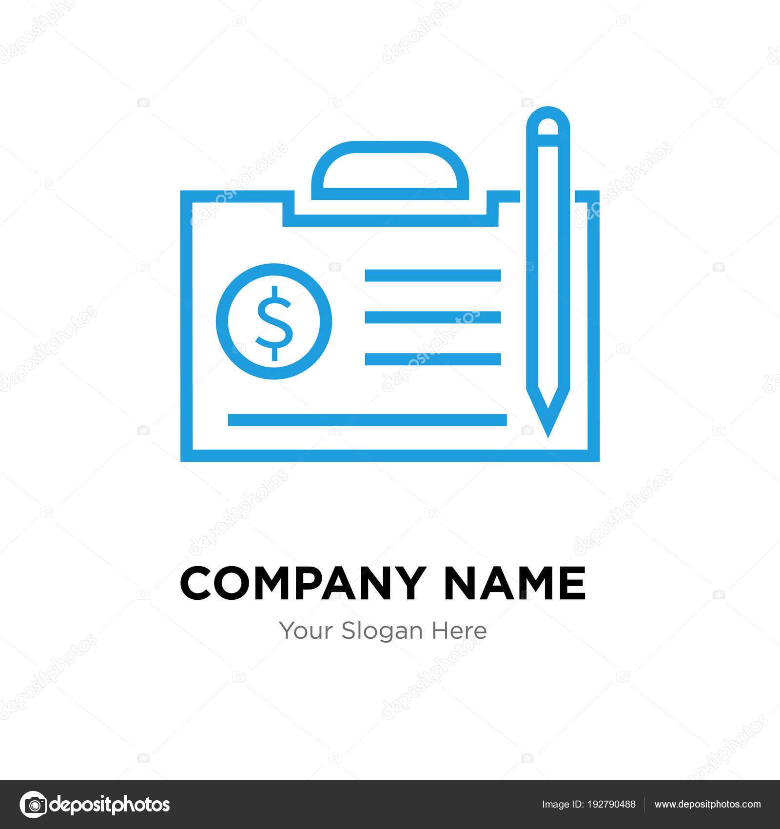 plantilla de diseño de logotipo de empresa contrato — Archivo ...