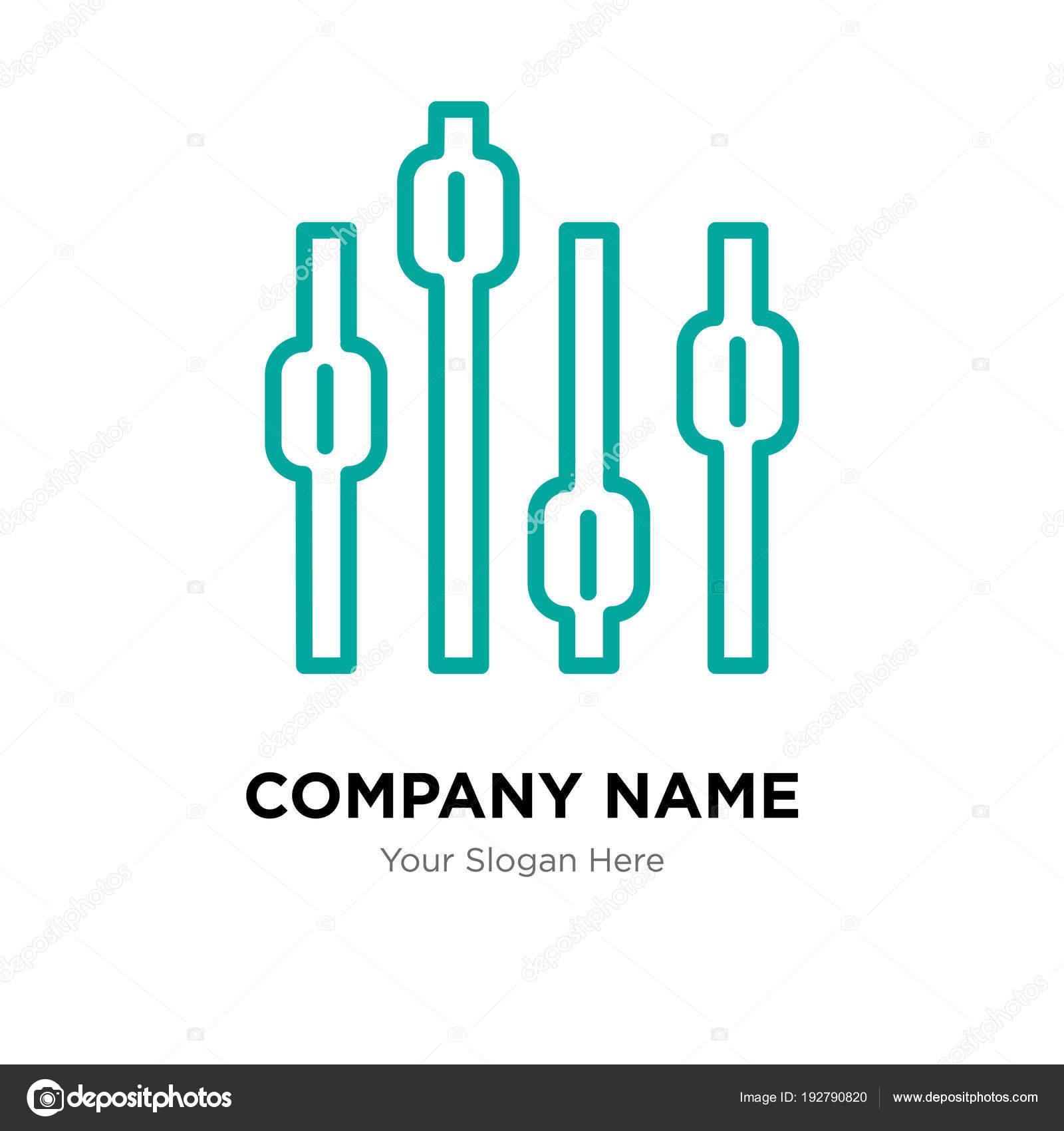 Box plot chart company logo design template — Stock Vector ...