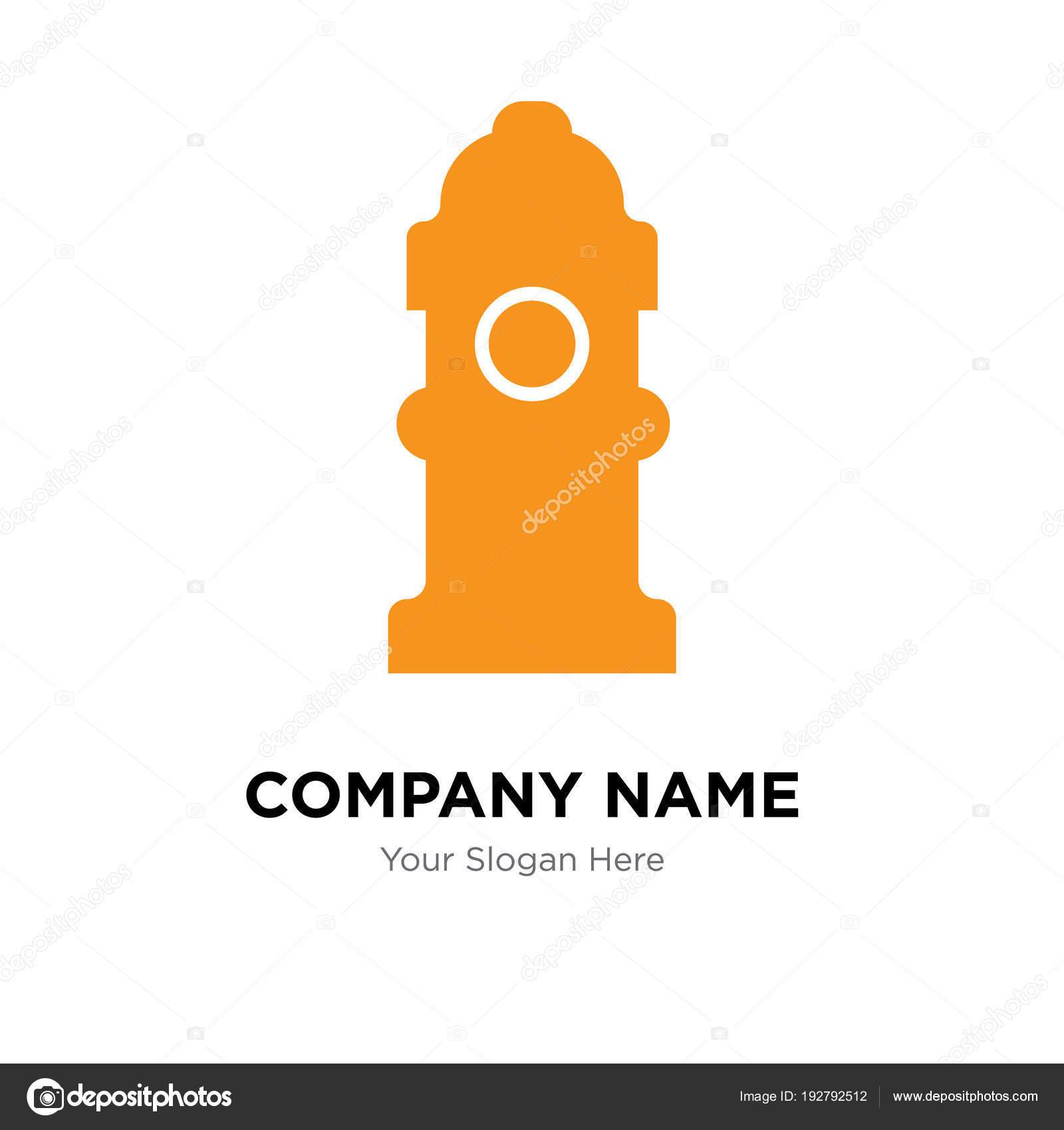 fire hydrant company logo design template stock vector