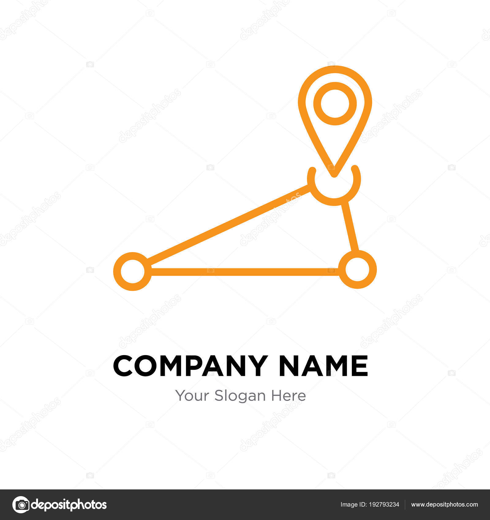 Plantilla de diseño de logotipo de empresa de PIN — Vector de stock ...