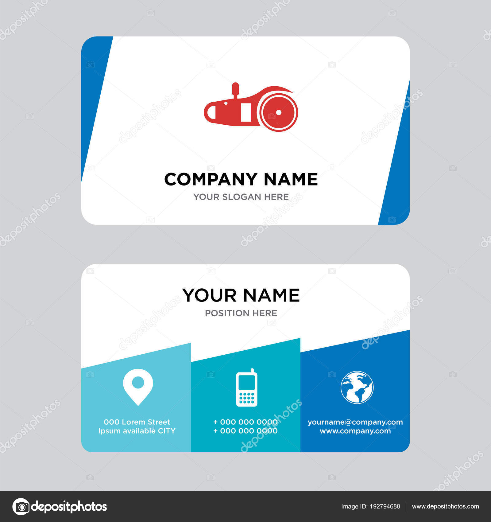 electric saw business card design template — Stock Vector ...